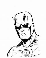 Daredevil Coloriage sketch template