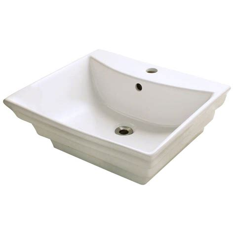 home depot white vessel sink polaris sinks porcelain vessel sink in white p041v w the