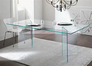 Tonelli Bacco Glass Dining Table - Modern glass dining tables