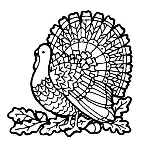 canada thanksgiving day turkey  mozaic coloring page