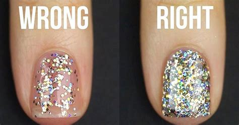 How To Apply Glitter Nail Polish The Right Way