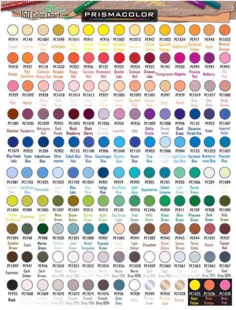 prismacolor chart 150 related keywords prismacolor chart