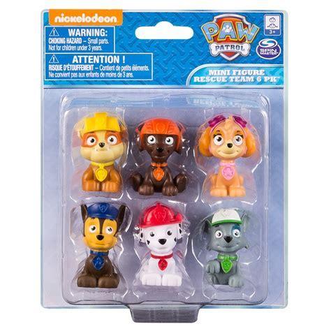 Paw Patrol Mini Figure Rescue Team 6pk   Kids Toys   B&M