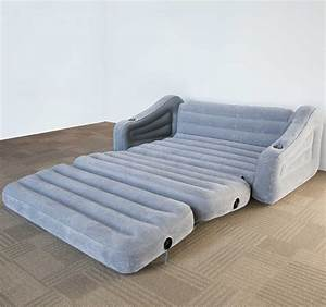 Intex inflatable 2 in 1 pull out sofa and queen air for Sofa bed vs pull out couch
