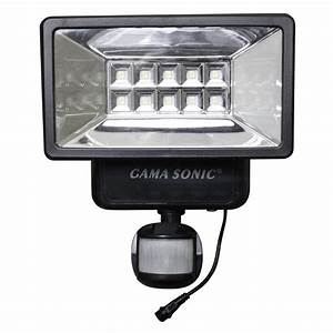 Gama Sonic 160 U00b0 Black Outdoor Solar Powered Security Light