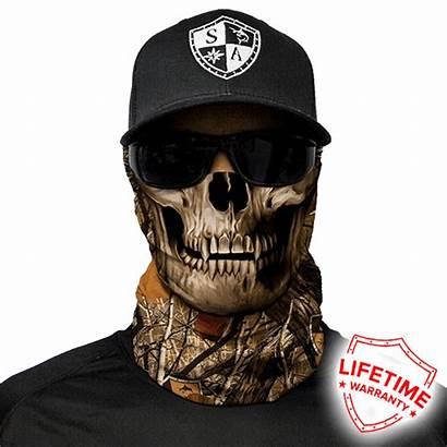 Skull Camo Face Mask Shield Forest Facemsk