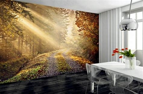 green and white kitchen ideas murals forest enjoy the tranquility of nature wall