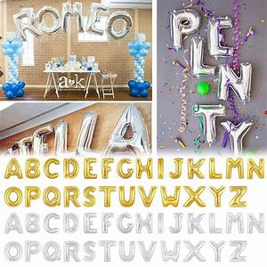 16 40quot helium foil balloons large alphabet letter number With small letter balloons party city