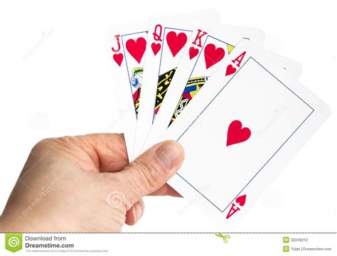 Hand Holding Playing Cards Stock Photography