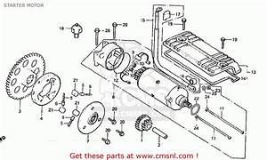 Honda Cb900f2b Bol D U0026 39 Or Starter Motor