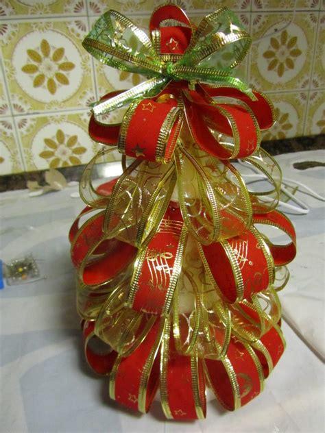 decoracion arbol de navidad con cintas