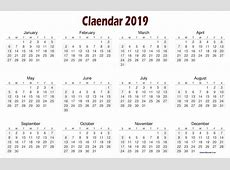 2019 Calendar Template Free Printable Letter Template