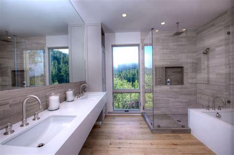 Modern Master Bathroom Ideas by Farmhouse Master Bathroom Shower And Backsplash