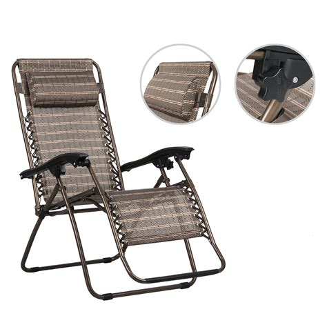 garden patio set adjustable zero gravity lounge chair