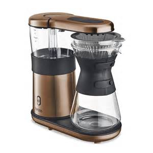 Recently, in the pursuit of a better cup of joe, i've developed what my officemates have called an odd ritual with the coffee machine. 8 Cup Pour Over Coffee Maker, Satin Copper - BRIM