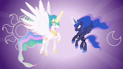 Celestia And Luna Attacking (wallpapers) By 90sigma On