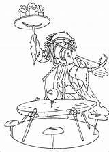 Waiter Coloring Minimoys Arthur sketch template
