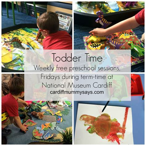 toddler time preschool sessions at national museum cardiff 572 | National Museum Cardiff Toddler Time Collage 1 with text