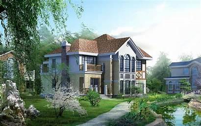 Wallpapers Houses Desktop Homes 3d Nice Huis