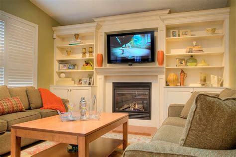 fireplace surround built in storage and cabinet design ideas photos and