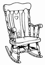 Rocking Chair Illustration Illustrations Vector Clip Clipart Swing Line Porch Istock Gettyimages Cartoons sketch template