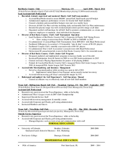 Pga Golf Professional Resume by Kirby Pga Linked In Resume