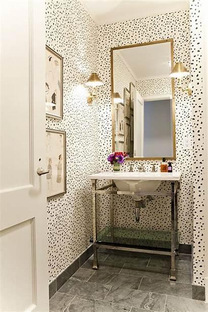 Powder Bathroom Bath Gold Bathrooms Decorating Walls