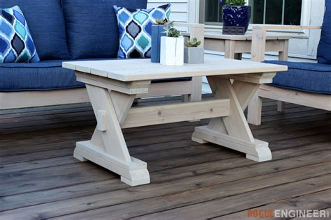 Next up for the outdoor furniture series, diy coffee table!materials are super simple for this project. Small Outdoor Coffee Table » Rogue Engineer