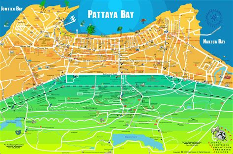 Pattaya Map Tourist Attractions Arabcookingme