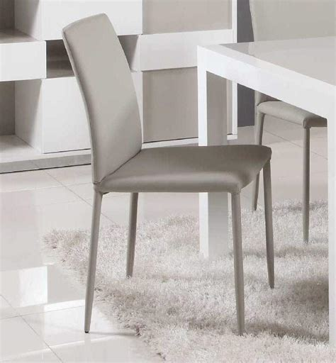 contemporary simple italian design leather dining chair in