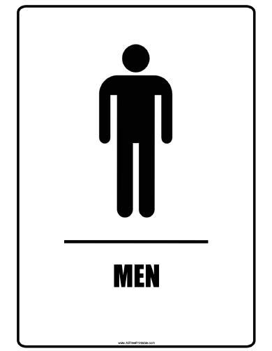 Men's Bathroom Signs Printable
