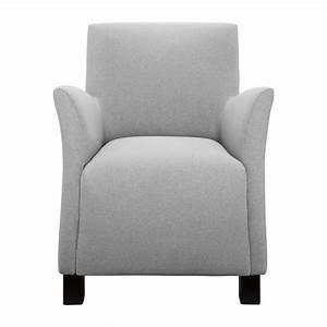 Fauteuil Gris Clair : mercure fauteuil en tissu gris clair habitat ~ Teatrodelosmanantiales.com Idées de Décoration