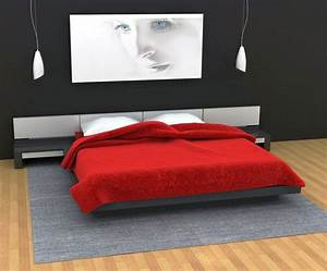 20 striking red black and white bedroom ideas for Black and red bedroom ideas