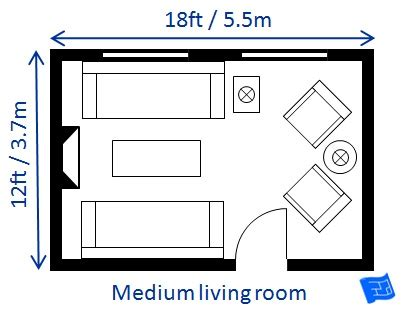 How Big Is A Standard Bedroom by Living Room Size