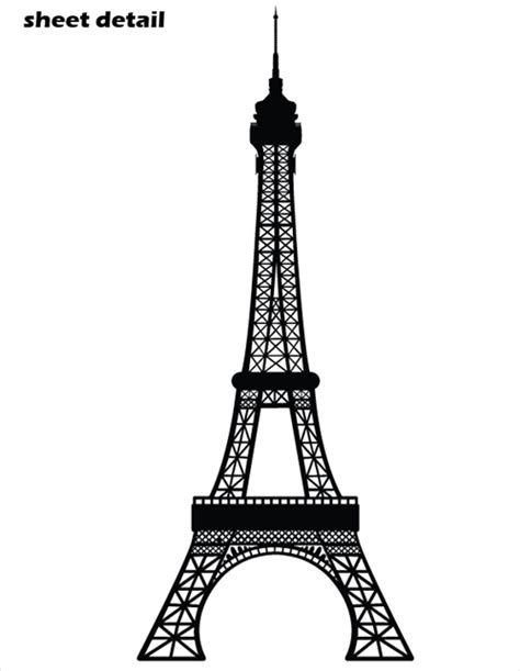 black and white dining room ideas eiffel tower wall decal sticker