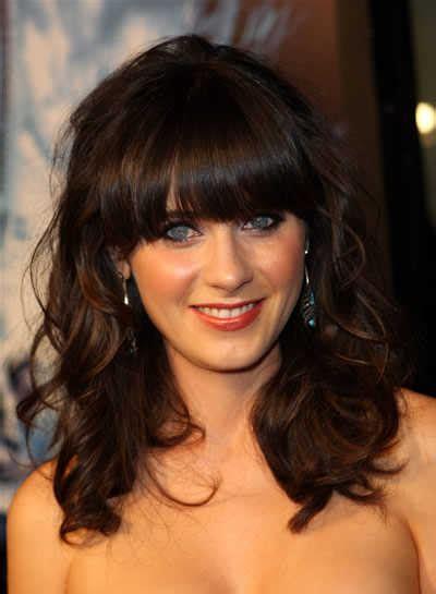 fashion show trendy curly hair bangs ideas