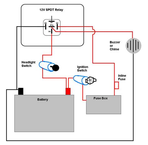 motorcycle headlight  single spdt relay motor
