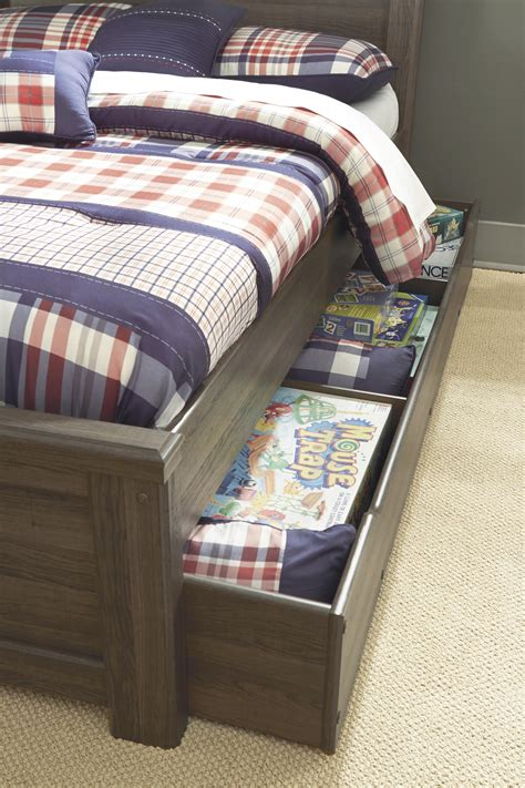 transitional twin panel bed   bed storage