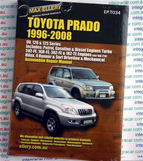 book repair manual 2008 toyota sienna auto manual toyota prado 1996 2008 ellery repair manual new sagin workshop car manuals repair books