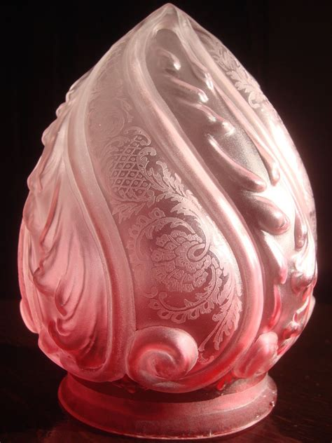 antique l shade replacements antique victorian frosted cranberry glass embossed etched
