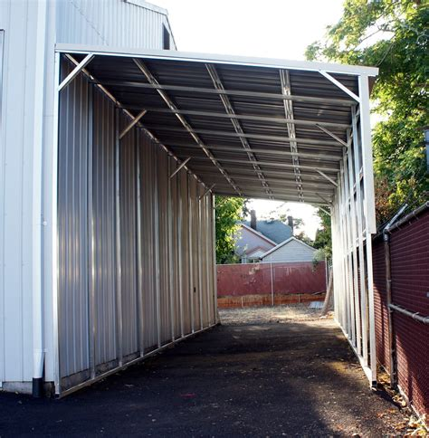 free standing lean to shed lean to carports all steel northwest