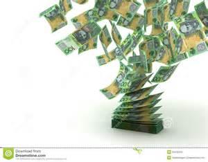 Flying Australian Dollar Royalty Free Stock Image - Image ...