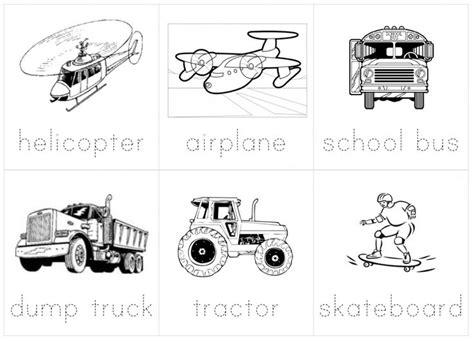 16 best images of transportation tracing worksheets 273   transportation lesson plan for preschoolers 153473
