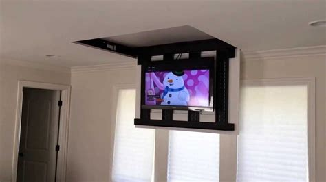 motorized ceiling tv mount uk motorized fully automated flip ceiling tv lift 46 quot 60