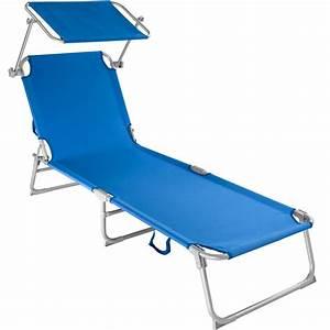 Chaise Bain De Soleil : chaise longue de jardin pliante transat bain de soleil pare soleil bleu neuf ebay ~ Teatrodelosmanantiales.com Idées de Décoration