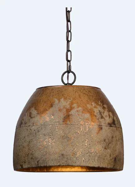 williston forge shera  light single dome pendant wayfair rustic pendant lighting rustic