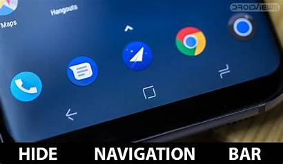 Bar Navigation Android Galaxy Hide Samsung S8