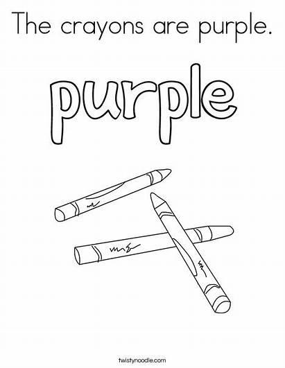 Purple Coloring Crayons Pages Colors Ll Noodle