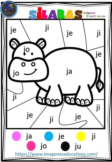 Colorear por sílabas (6 Escritura de niños Material
