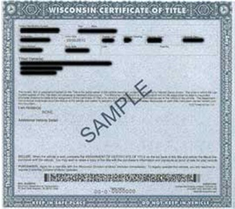 Boat Registration Numbers Wi by Title Information For Vehicle Donation In Wisconsin Cars